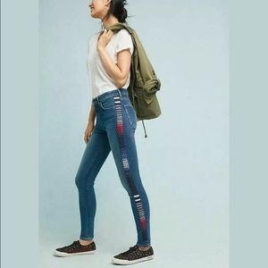 Levi's Made & Crafted   High Rise Embroidered Jean
